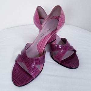 Kenneth Cole New York Purple Cross Open Toes Shoes